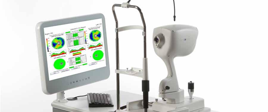 L'OCT (optical coherence tomography) permet une analyse fine de l'oeil pour dépister et suivre le glaucome, la DMLA, ou réaliser un bilan pour l'opération laser de la myopie.