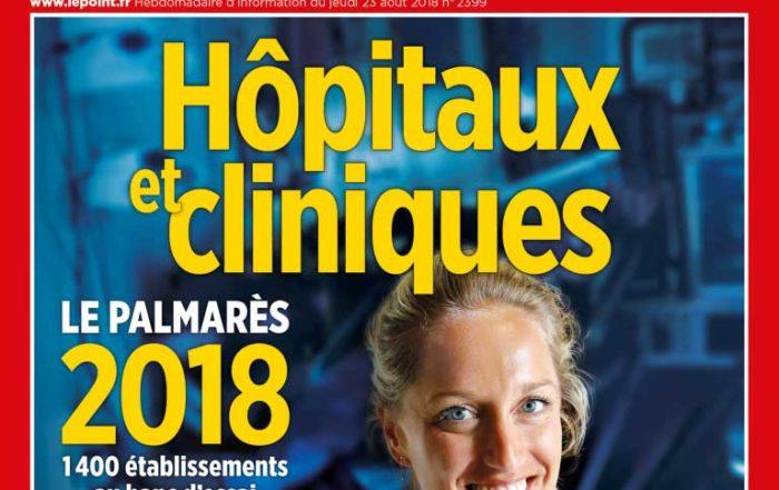 Classement Le Point 2018 : La Clinique Pierre Cherest parmi les meilleures d'Ile-de-France